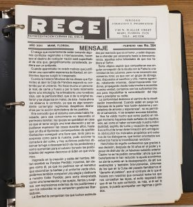 Image of Miami Cuban newspaper Rece