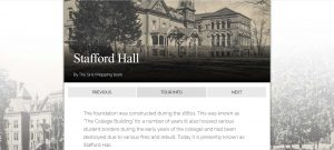 Site page for Stafford Hall