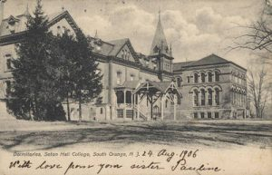Historic image of the original Stafford Hall, which was a dormitory
