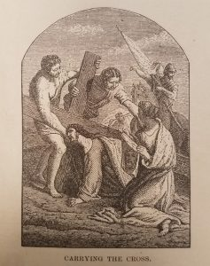 Image of Jesus carrying the cross