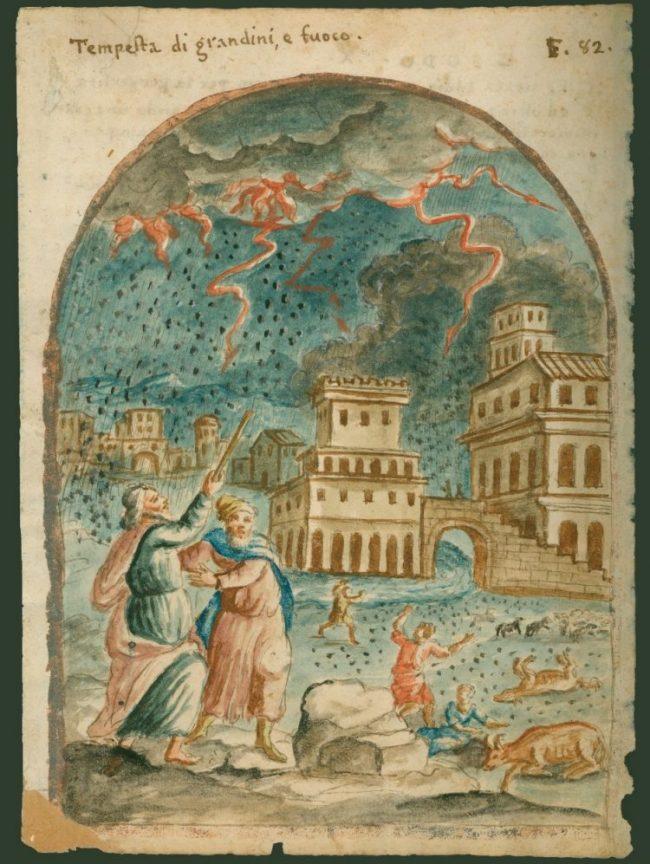 "Object of the Week: ""Hailstorm Plague"" from an Old Testament Bible Manuscript"