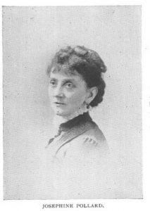 Black and white portrait of Josephine Pollard
