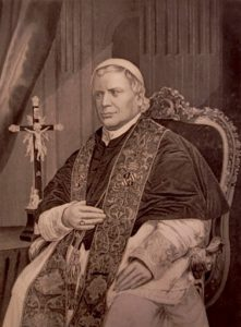 Engraved image of Pope Pius IX
