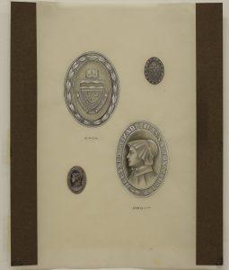 Design for medal featuring Mother Elizabeth Ann Seton