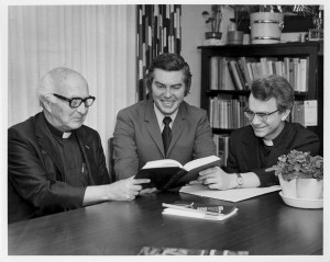 Msgr. Oesterreicher, Rabbi Finkel, and Fr. Frizzell of the Institute for Judaeo-Christian Studies