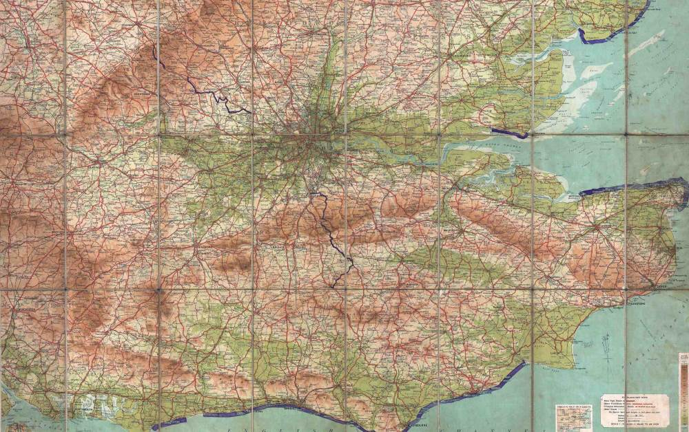 Map of London and Environs 1928