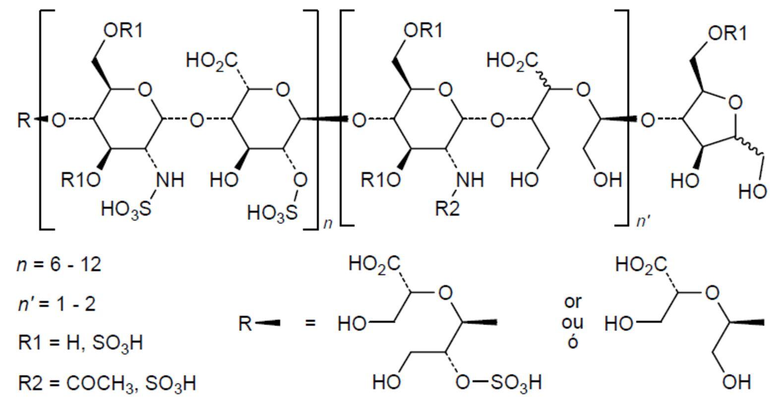 Chemical structure of necuparanib http://drugspider.com/drug/necuparanib
