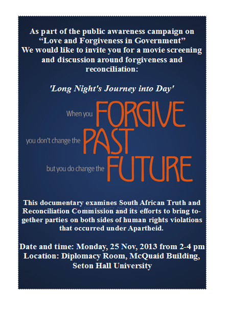 Movie screening and discussion – A Long Night's Journey into the Day