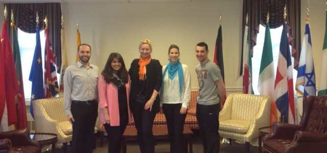 Thomas Hill, Areej Elahi-Siddiqui, Borislava Manojlovic, Kelly Njike and Thomas Ashe