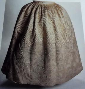 Quilted Satin Petticoat of Eva