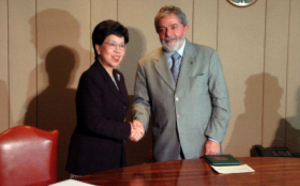 Margaret Chan (WHO Director-General) Luis Inácio Lula da Silva (President of Brazil).  Photo Credit: WHO