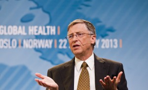 Bill Gates speaks at a seminar in Oslo in this picture provided by Scanpix January 22, 2012, which discusses challenges of international aid and health.  REUTERS/Vegard Grott/Scanpix