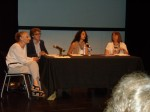 The panel fields questions from the audience. From left to right: Sharon Friedman, Drew Eisenhauer, Noelia Hernando-Real, and Brenda Murphy