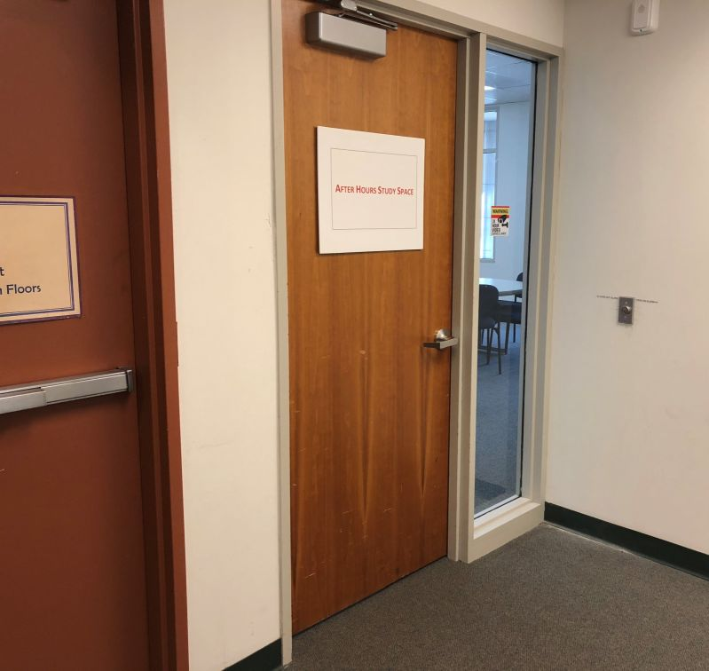 Photo of After Hours Study Space door