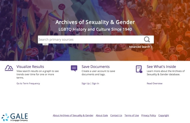 Archives of Sexuality & Gender screenshot
