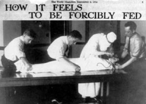 "Newspaper Clipping of Barnes' 1914 story ""How It Feels to Be Forcibly Fed"" (Wikimedia Commons)"