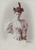 Edith with her dogs