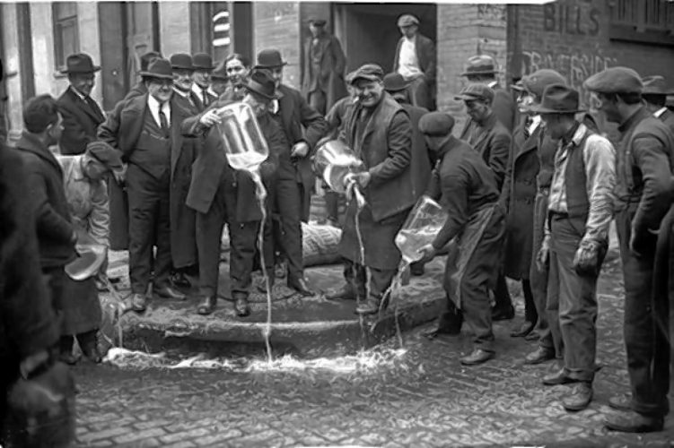 The first days of Prohibition  were seen as a massive victory for Temperates.  Thousands upon thousands of gallons of beer, wine, and liquor were destroyed or flooded the streets of New York.  For the rest of New York, it was the first day of a very long decade.