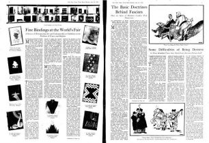 "Image ""A"" This New York Times article shows the pending threat of war against art, culture, and the theme of the 1939 World's Fair"