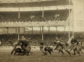 Army vs. Navy game in 1916. The Polo Grounds held many other sporting events, most notably football and boxing.[27]
