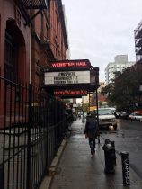 Approaching Webster Hall today. Source: personal photograph