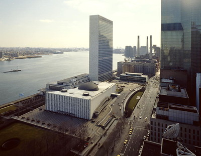United Nations Headquarters, located in New York, was completed in 1952