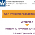 On Tuesday November 10, the School of Diplomacy and International Relations hosted an webinar with the UN Development Program Independent Evaluation Office. 2015 is the International Year of Evaluation, so […]
