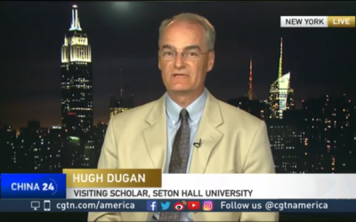 Professor Hugh Dugan on the CGTN News