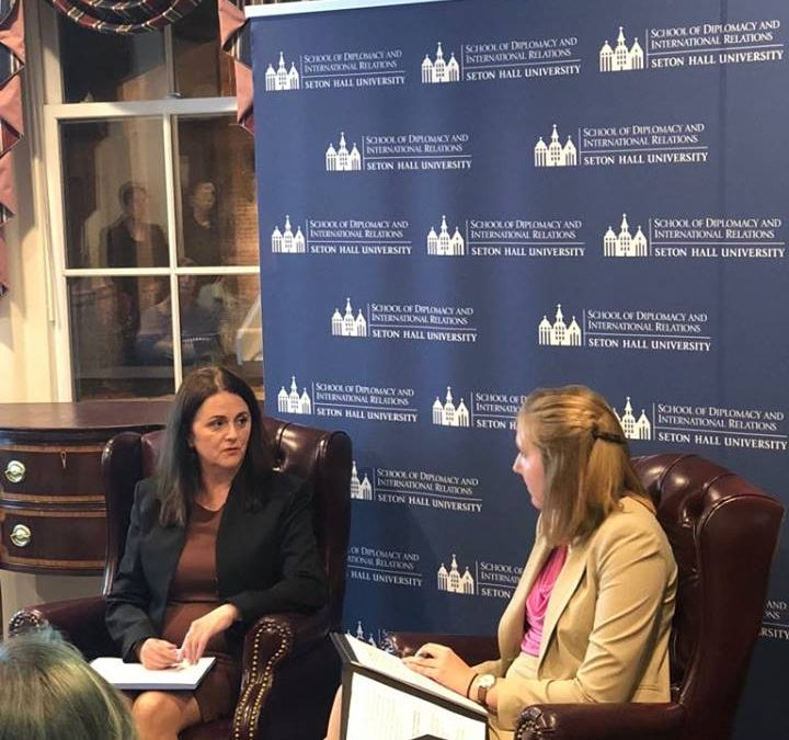 Women of Diplomacy Leadership Program Presents: Women in Transitional States-Ambassador Sahatqija