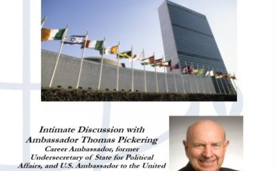 """Discussion by Ambassador Thomas Pickering """"United Nations and the United States: Friend or Foe?"""""""
