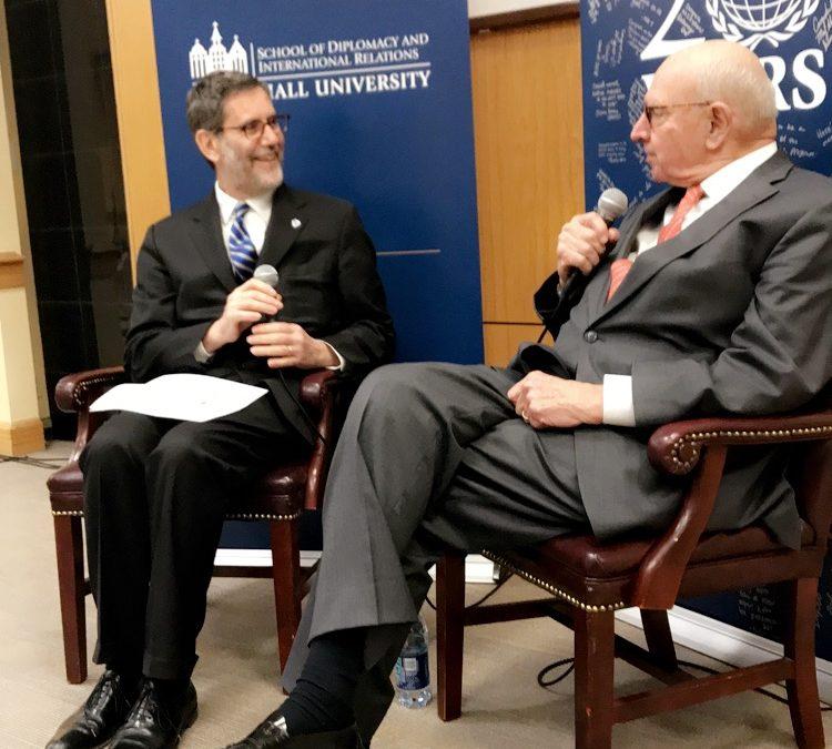 Ambassador Thomas Pickering visits Seton Hall University