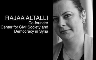 Civil rights activist Rajaa Altalli from Syria visits the School of Diplomacy, Seton Hall University