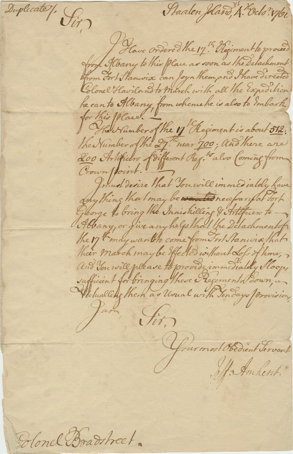 Amherst Letter Oct4_1761