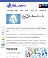 How To Do Everything In WordPress