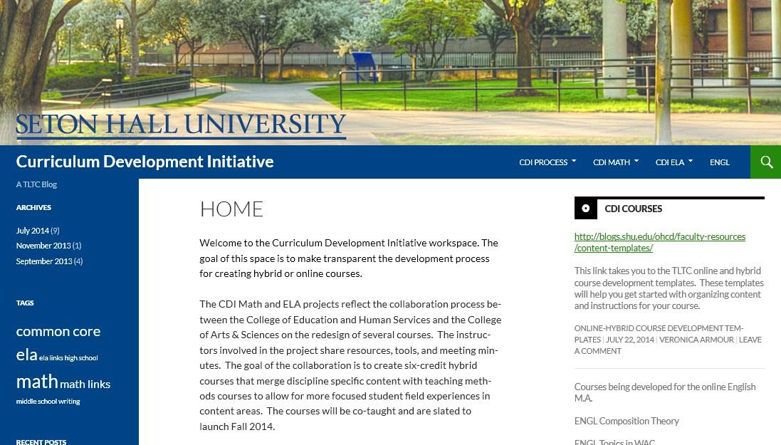 Curriculum Development Initiative