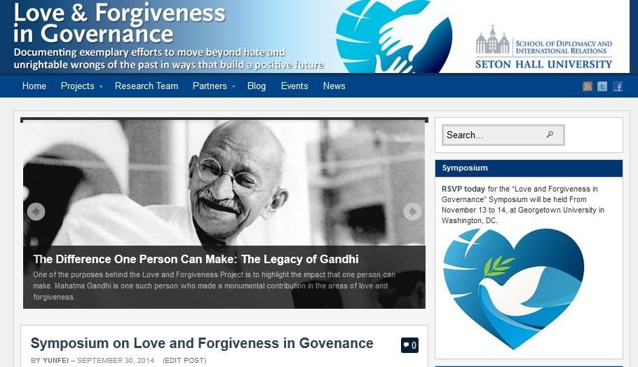 Love & Forgiveness in Governance