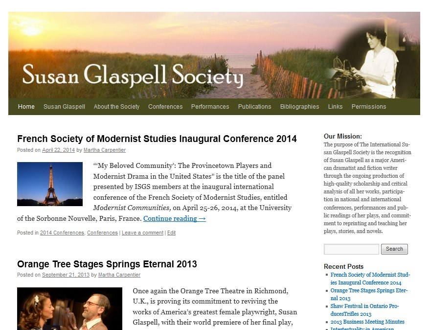 The International Susan Glaspell Society