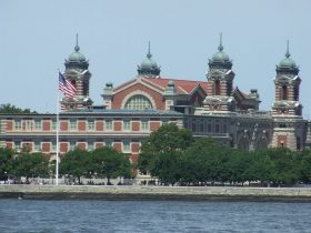 The facility on Ellis Island, in New York harbor, where enemy nationals are being detained