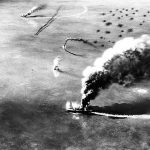 U.S. scores first major victory against Japanese at Midway