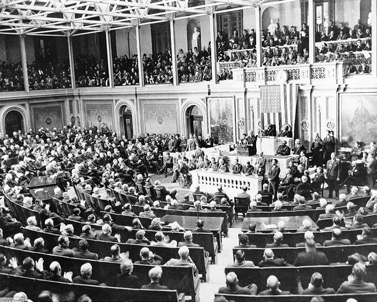 House Votes Largest Appropriation Bill in History for War Efforts