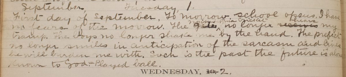 College life in the 1870s: John Erigena Robinson's diary