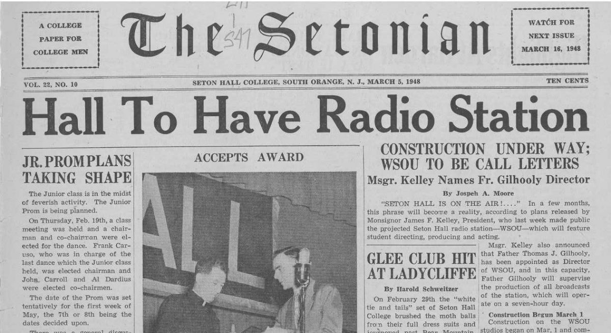 WSOU-FM – The First Air Date and Researching This Milestone