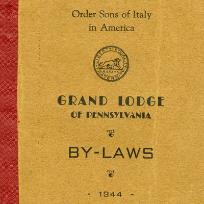 By-Laws for the Order Sons of Italy, 1944.