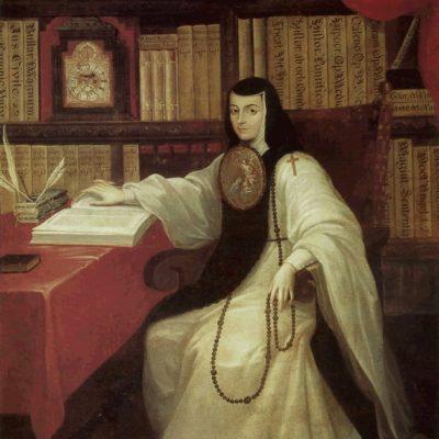 Portrait of Sister Juana Inés de la Cruz.