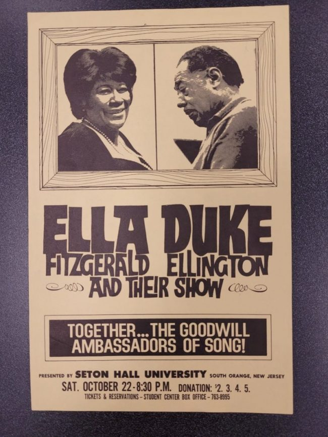 """Object of the Week: """"Ella Fitzgerald, Duke Ellington and their Show"""" Poster"""