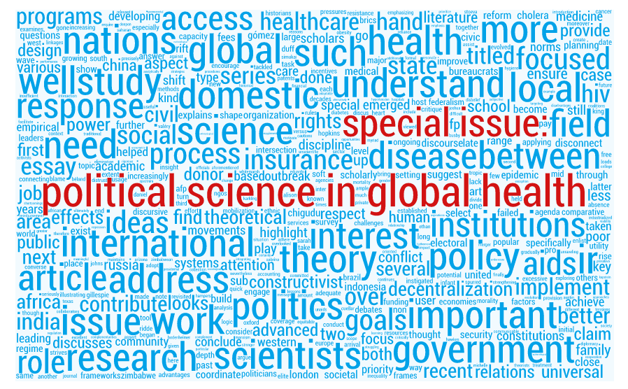 Special Issue: Political Science in Global Health