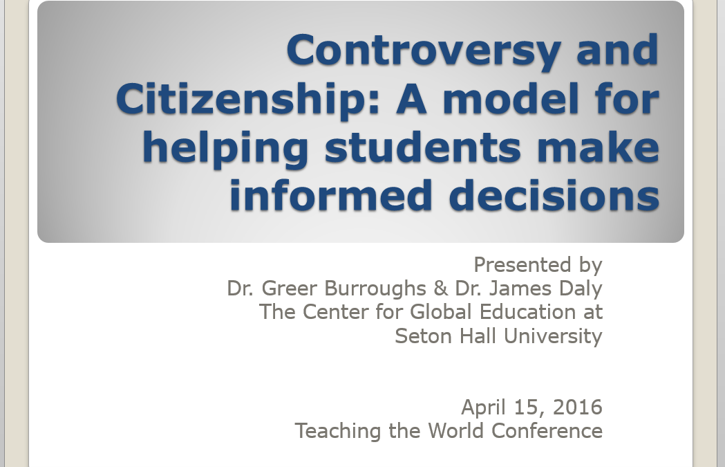 Controversy and Citizenship
