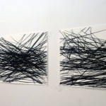 "Jones and Roa, Tephra Drawings, charcoal on paper, 24"" x 36"", 2011"