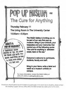 Pop Up Museum Flyer for Lib Blog