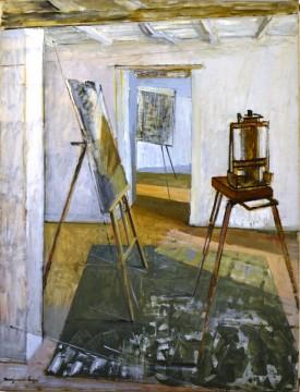 Marguerite Louppe, Les Trois Chevalets, n.d. Oil on canvas, 116 x 89 cm
